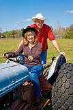 Mature Couple on Farm