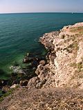 Sea Landscape of Rocky Beach