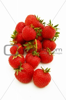Bright red strawberries