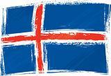 Grunge Iceland flag