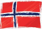 Grunge Norway flag