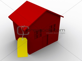 House with tag