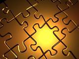 Golden jigsaw puzzle