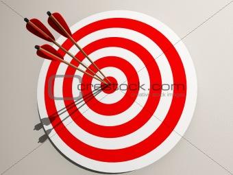 Aimed target