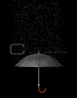Umbrella and rain