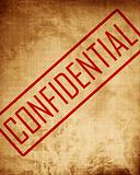 Old paper texture with 'confidential'