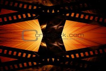 Flaming film strip