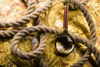 Old map & Rope