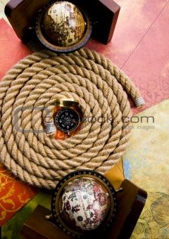 Old globe & Rope