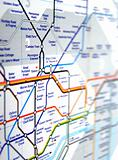 Tube map of London underground