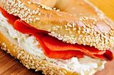 Bagel with smoked salmon and cream cheese