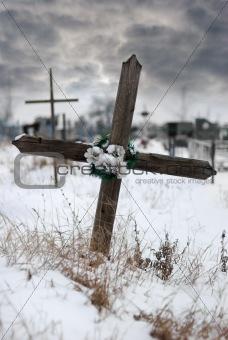 Cross on a cemetery