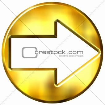 3D Golden Framed Arrow