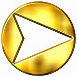 3D Golden Framed Arrow