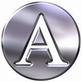 3D Silver Letter A