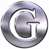 3D Silver Letter G
