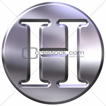 3D Silver Letter H