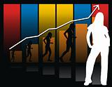 business woman graphic