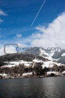 Tranquil Alpine lake
