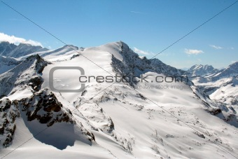 Beautiful Swiss Alps Scenery