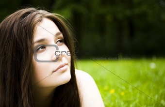 Thinking Woman Outdoors