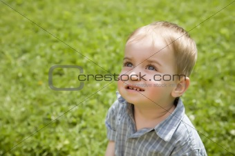 Boy Looking On The Sun