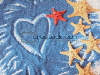 Card with starfishes.