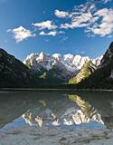 Mountain Reflections on a Lake at Lago di Landro