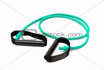 green rubber,shock-absorber on white (clipping path)