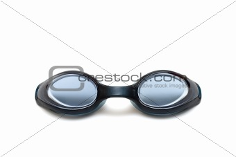black goggles close-up