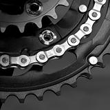 MTB crankset with  chain