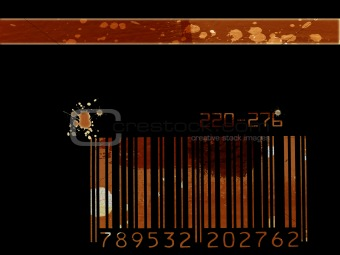 Grunge bar code background
