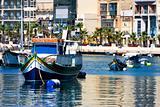 Maltese boats in a bay