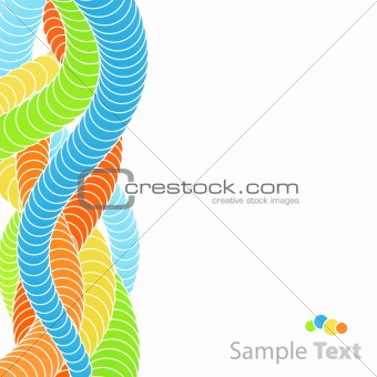 Abstract circle flow background