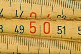 wood meter close up