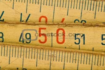 wood meter close up