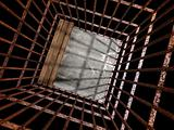 image 3d of metal  jail