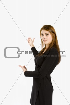 Business women presenting