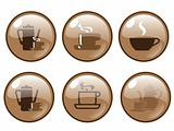 Glossy Coffee Bar Logos