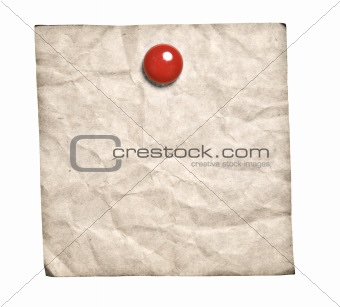 Old-Style Retro Note With Red Clip