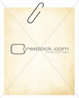 Old paper postit