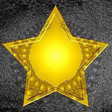golden star with wreath