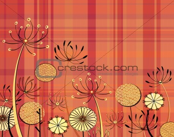 Tartan flowers