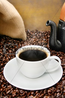 Old fashioned coffee brewing