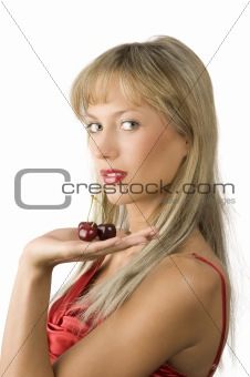 blond and red cherries