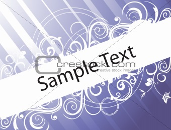 abstract banner of funky vector background for text, in blue