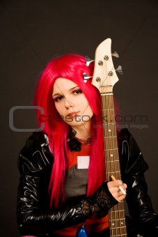 Romantic girl with guitar