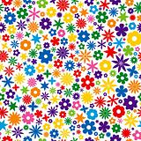 Colorful Flower Tile