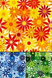 Seamless repeating flower background