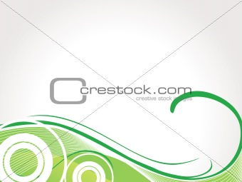 abstract vector wallpaper of blue swirl, waves and halftone elements on white background